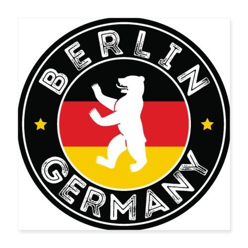 00110 Berlín oso bandera Alemania - Póster 40x40 cm