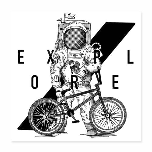 BMX | Bmx | Bike | Fahrrad | BMX Rider | Eis - Poster 40x40 cm