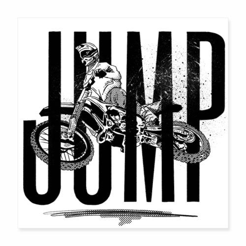 Jump Motorbike | Sprung Motorrad | Motorcross Bike - Poster 40x40 cm