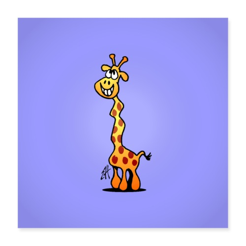 Giggling giraffe - Poster 16 x 16 (40x40 cm)