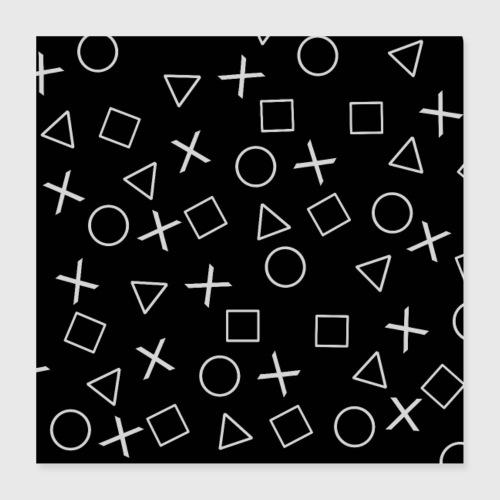 Videogiocatore nero - Poster 40x40 cm
