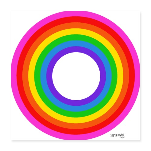 Eternal Rainbow - Juliste 40 x 40 cm