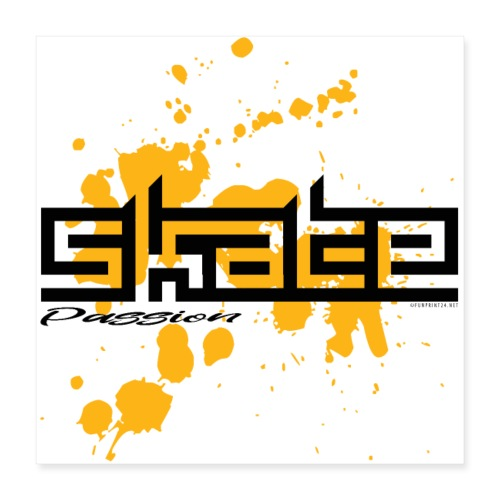 SKATE PASSION Skater textiles, gifts, products - Juliste 40 x 40 cm