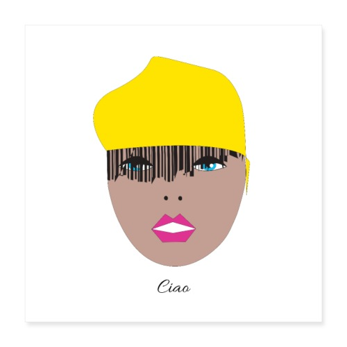 Yellow lady 1 1 - Poster 40x40 cm