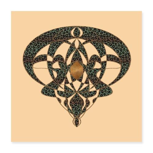 Jugendstil Art Nouveau Vintage Gift Beige - Poster 16 x 16 (40x40 cm)