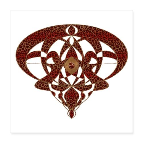 Art Nouveau Art Deco Art Nouveau Vintage Art Gold - Poster 16 x 16 (40x40 cm)
