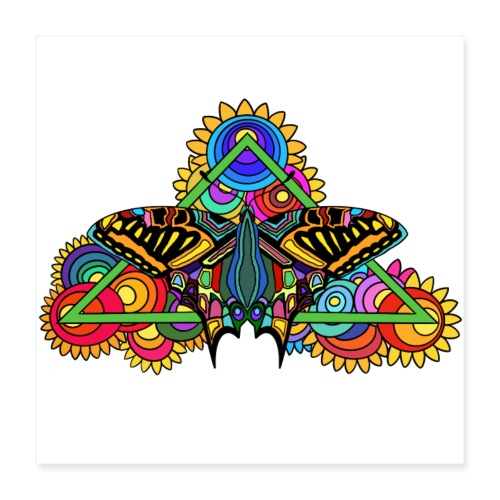Happy Butterfly! - Poster 40x40 cm