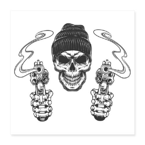 Gangster mit Mütze - Poster 40x40 cm