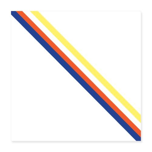 Lines - Póster 40x40 cm