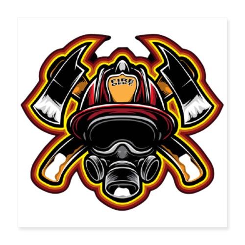 Fire Department - Poster 40x40 cm