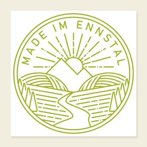 Made im Ennstal, grün - Poster 40x40 cm