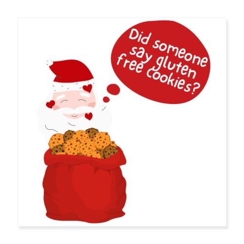 Santa goes gluten free - Poster 40x40 cm