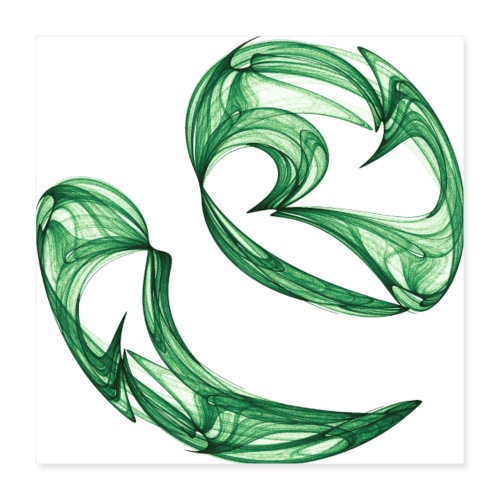 Unequal pair of green twins in the wind 7761alg_P - Poster 16 x 16 (40x40 cm)