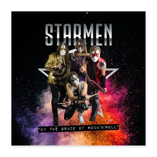 Starmen - By the Grace of Rock 'n' Roll - Poster 16 x 16 (40x40 cm)