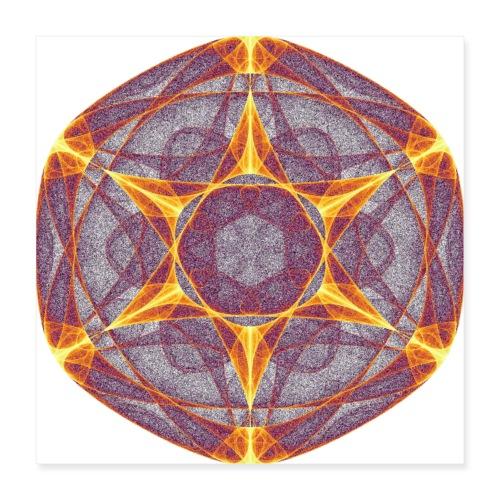 Star Poinsettia Mandala Lucky Star 9401I_P - Poster 16 x 16 (40x40 cm)
