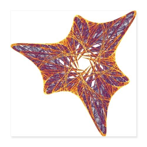 Starfish Ammonite Urtier 12000I_P - Poster 16 x 16 (40x40 cm)
