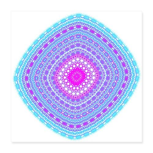 cheerful blue diamond 5400 cool - Poster 16 x 16 (40x40 cm)