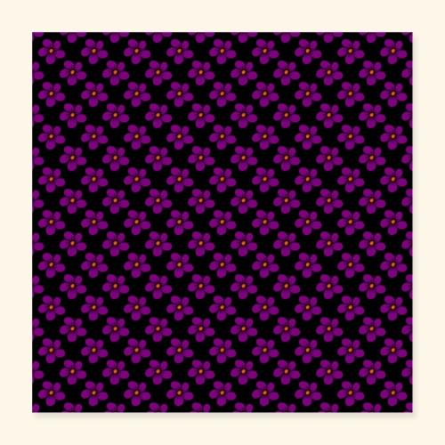 violette Blumen, Blüten, floral, blumig, violett - Poster 40x40 cm