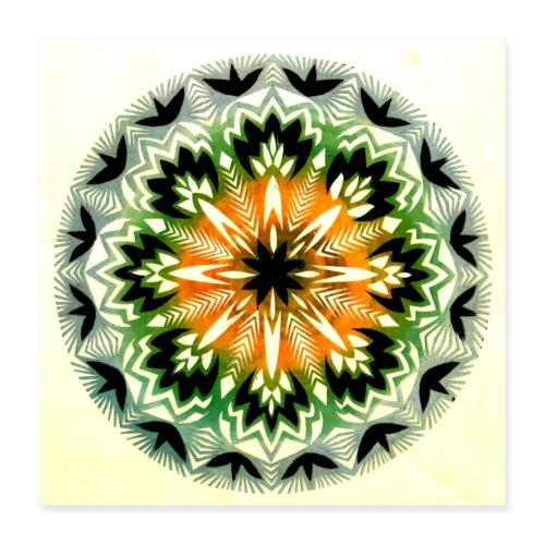 Wycinanka z kolorowanego papieru Reprodukcja 3 - Plakat o wymiarach 40 x 40 cm