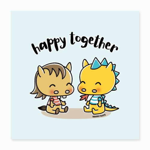 Happy Together - Poster 40x40 cm