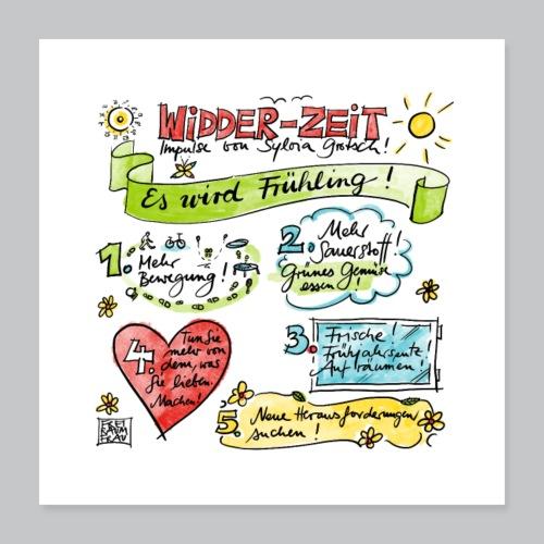 Widder-Zeit - Poster 40x40 cm