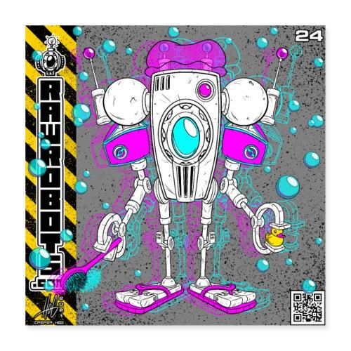 The F.L.O.A.T. Robot! - Poster 40x40 cm