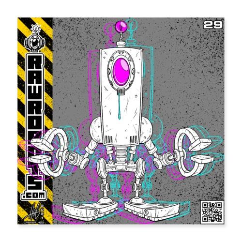 The D.R.O.P. Robot! - Poster 40x40 cm