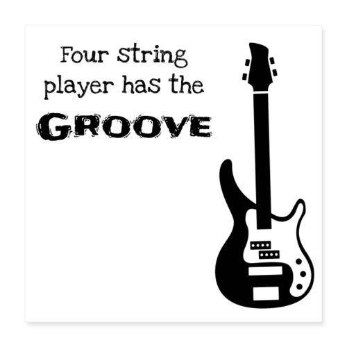 Bass guitar - Poster 40x40 cm