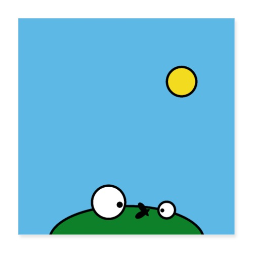 Hungry Frog - suicide fly - Poster 16 x 16 (40x40 cm)