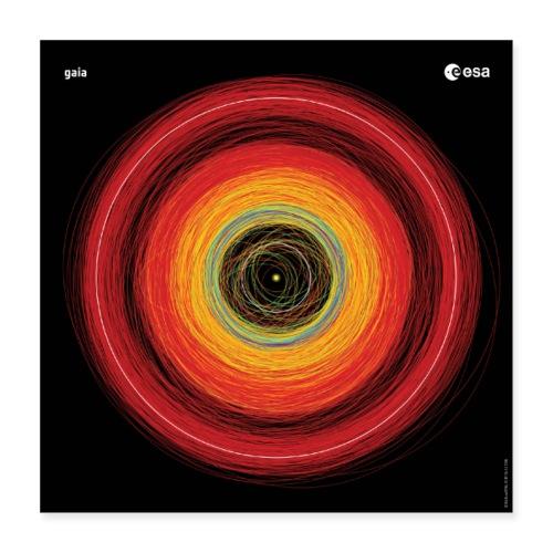Gaia - Asteroid orbits - Poster 16 x 16 (40x40 cm)