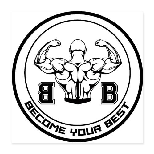 BYB logo black - Poster 40x40 cm