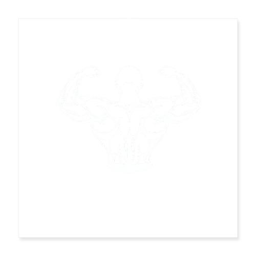 BYB logo white - Poster 40x40 cm