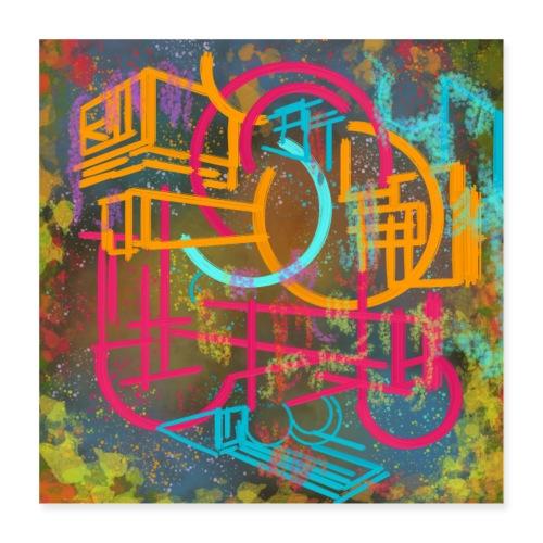 Doodles - Poster 40x40 cm