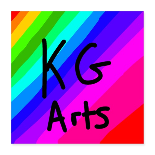 KG Arts Rainbow Poster - Poster 40x40 cm