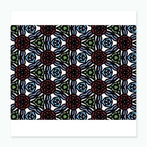 Symmetric roses - Poster 16 x 16 (40x40 cm)