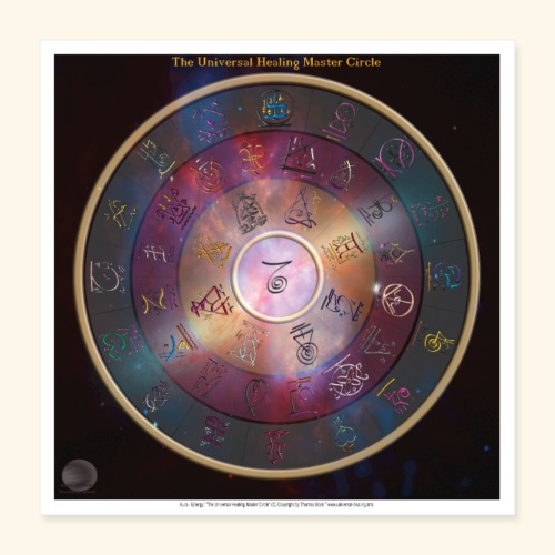 The Universal Healing Master Circle - Poster 40x40 cm