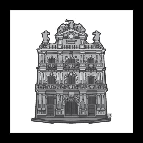 Ayuntamiento de Pamplona/Iruña - Póster 40x40 cm