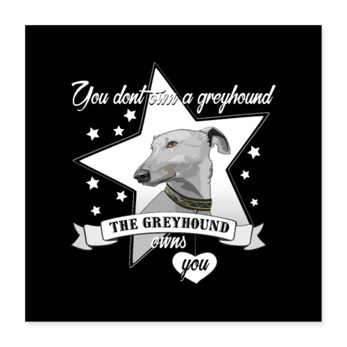 The Greyhound - Poster 40x40 cm