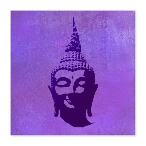 Boeddha hoofd - Poster 40x40 cm
