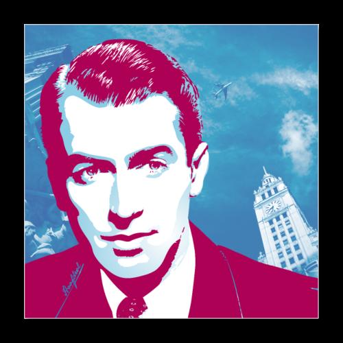 James Stewart Chicago - Poster 40x40 cm