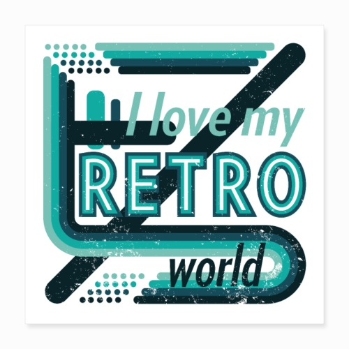Retro world - Poster 16 x 16 (40x40 cm)