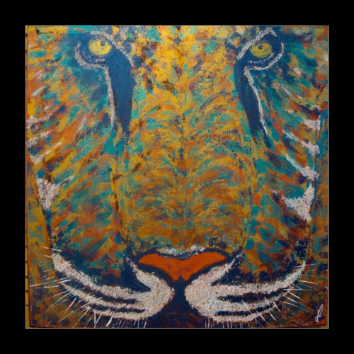 Tigre Bāgha - Poster 40 x 40 cm