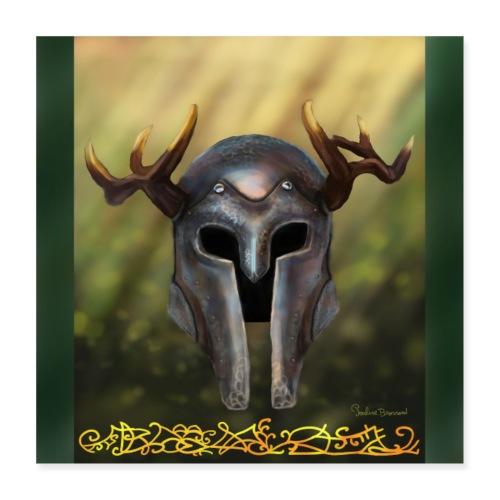 horn helmet - Poster 40 x 40 cm