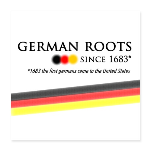 German americans Button - Poster 40x40 cm