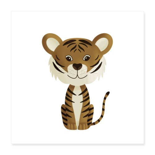 Tiger Monty - Poster 40x40 cm