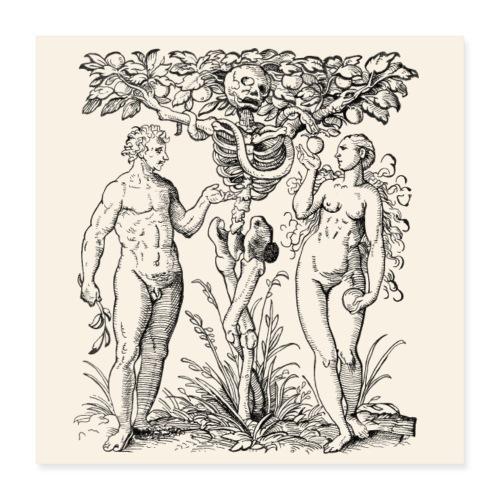 Poster Arbre Connaissance et la mort - Poster 40 x 40 cm
