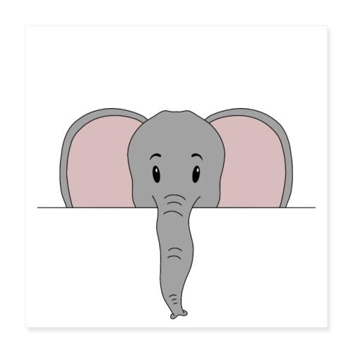 Elefant Marvin - Poster 40x40 cm