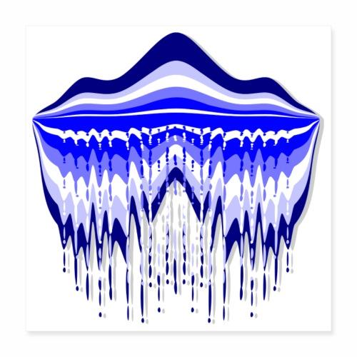 Blue Lagoon, carré - Poster 16 x 16 (40x40 cm)