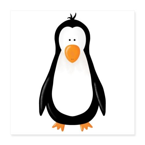 Pinguin Fridolin - Poster 40x40 cm