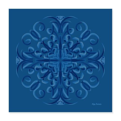 Classic Blue Poster Modo Mandala - Póster 40x40 cm